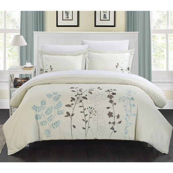 Chic Home 7-piece Kaylana Floral Embroidered Bed in a Bag Set
