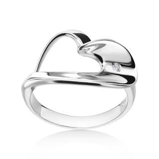SummerRose 14k White Gold Diamond Accent Heart Ring