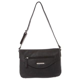 Stone Mountain Amherst Black Leather Hobo Bag