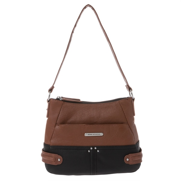 Stone Mountain Chappaqua Black/ Tan Shoulder Bag
