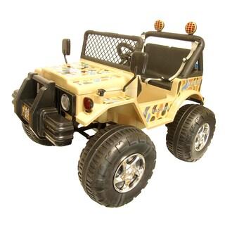 Joyriders Big Kids Tan Jeep Ride-on Vehicle