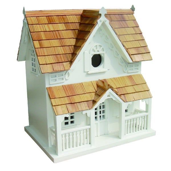 Gingerbread Cottage Birdhouse with Mounting Bracket
