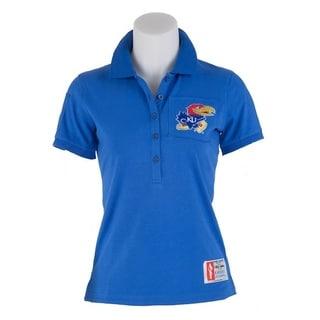 NCAA U of Kansas Ladies Collarscholar Polo
