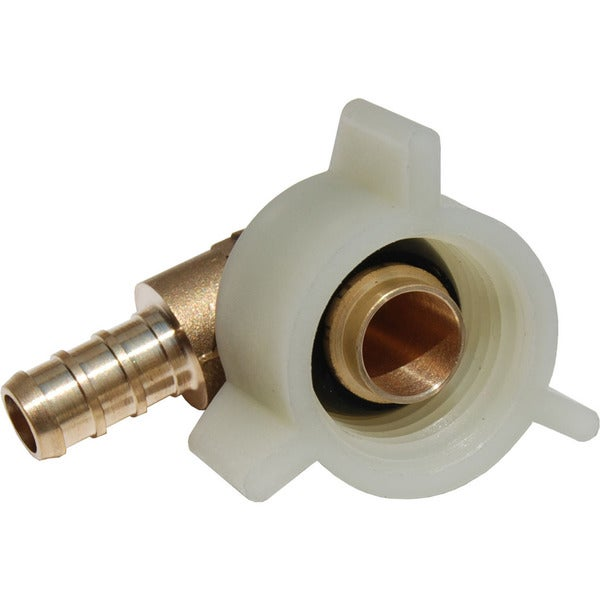 Sharkbite 3/8-inch x 0.875-inch Elbow Pex Swivel Toilet Connectors Lead Free