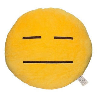 Emoji Helpless Yellow Round Plush Pillow