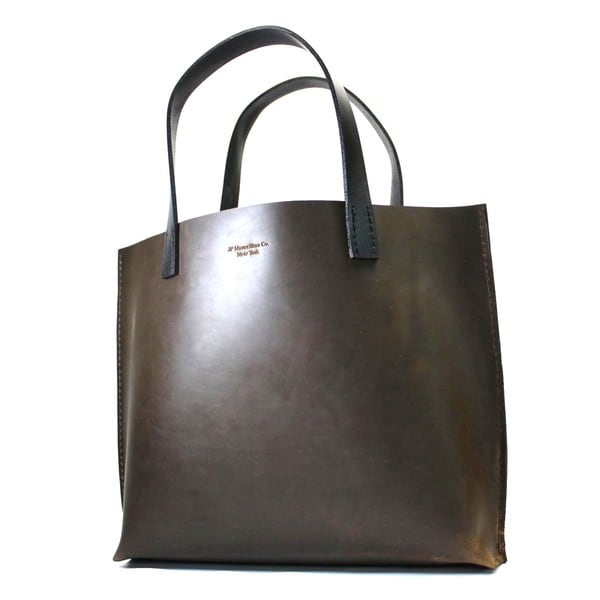 Marcellino NY Brown Pull-Up Leather Tote