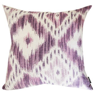 Shaded Purple Ikat Designer 18-inch Throw Pillow