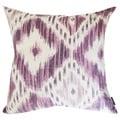 Shaded Purple Ikat Designer 18-inch Throw Pillow