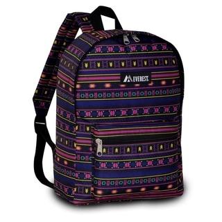 Everest 15-inch Basic Aztec Pattern Backpack with Padded Shoulder Straps