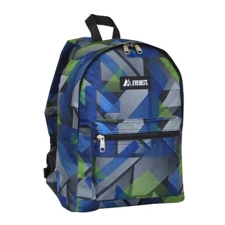 Everest 15-inch Basic Geometric Backpack with Padded Shoulder Straps