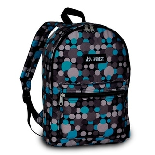 Everest 15-inch Basic Blue and Grey Dote Backpack with Padded Shoulder Straps