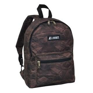 Everest 15-inch Basic Brown Rock Backpack with Padded Shoulder Straps