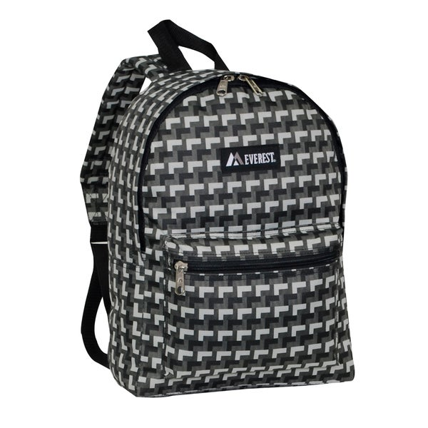Everest 15-inch Basic Grey Steps Backpack with Padded Shoulder Straps