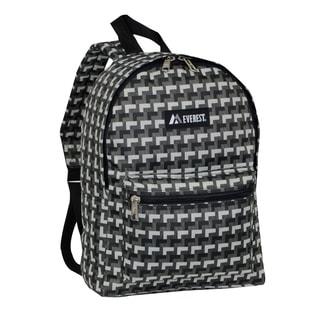 Everest 15-inch Basic Grey Steps Backpack with Padded Shoulder Straps