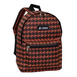 Everest 15-inch Basic Orange Steps Backpack with Padded Shoulder Straps