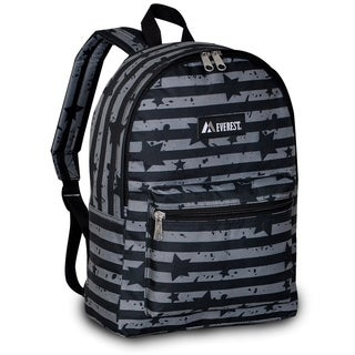 Everest 15-inch Basic Grey Stripes Backpack with Padded Shoulder Straps