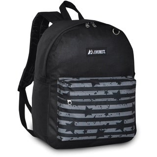 Everest 16.5-inch Classic Grey Stripes and Stars Backpack