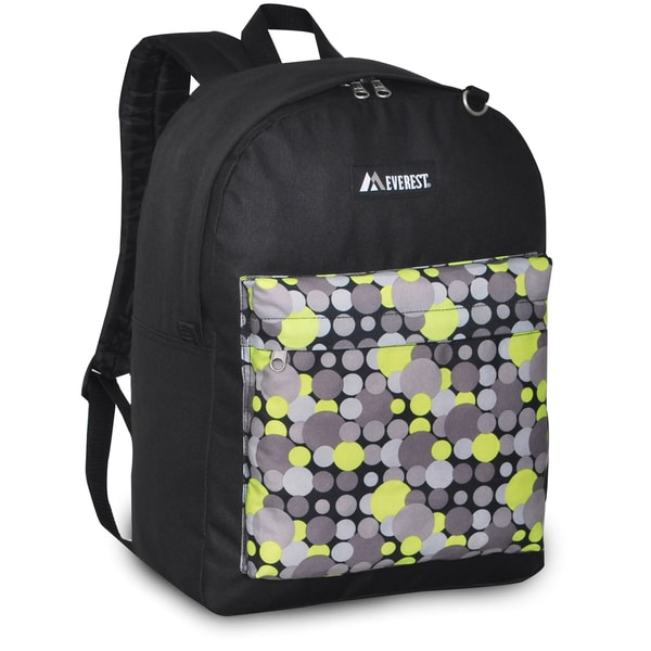 Everest 16.5-inch Classic Black and Yellow Dot Backpack