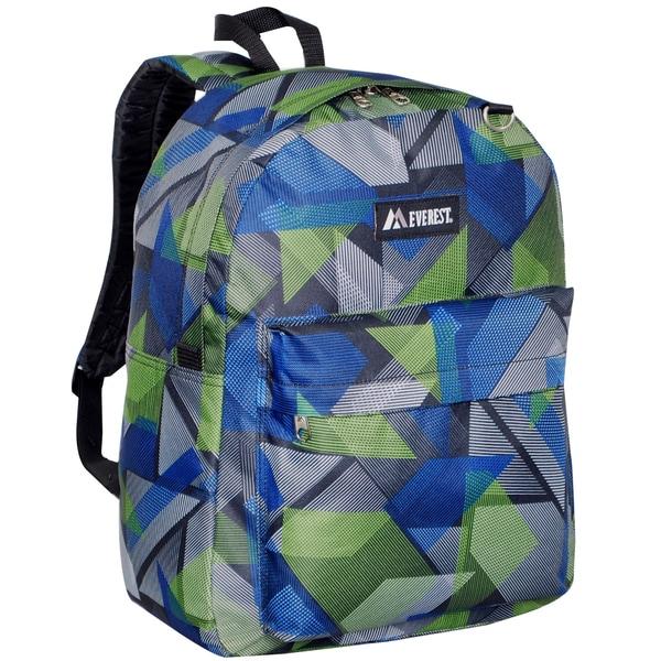 Everest 16.5-inch Classic Blue Geometric Backpack