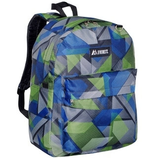 Everest 16.5-inch Classic Blue Geometric Backpack
