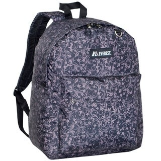 Everest 16.5-inch Classic Brown Vines Backpack
