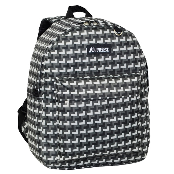 Everest 16.5-inch Classic Grey Steps Backpack