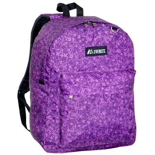 Everest 16.5-inch Purple Vines Backpack