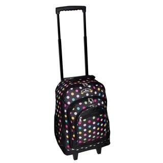 Everest 18-inch Polka Dot Wheeled Backpack