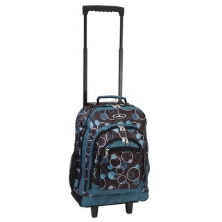Everest 18-inch Teal Bubbles Wheeled Backpack