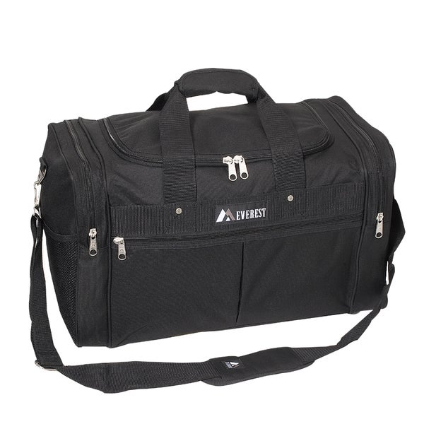 Everest 21-inch Carry On Black Travel Gear Duffel Bag