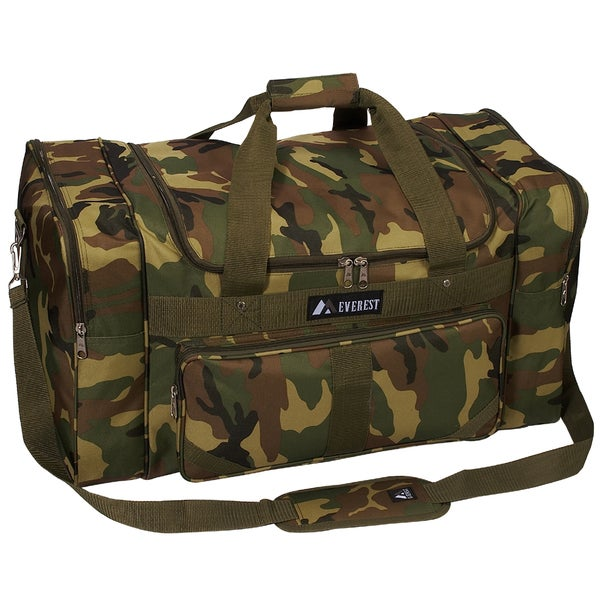 Everest 27-inch Woodland Camo Duffel Bag