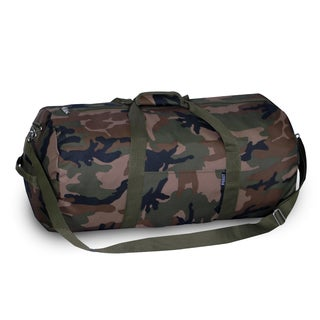 Everest 23-inch Woodland Camo Rounded Duffel Bag