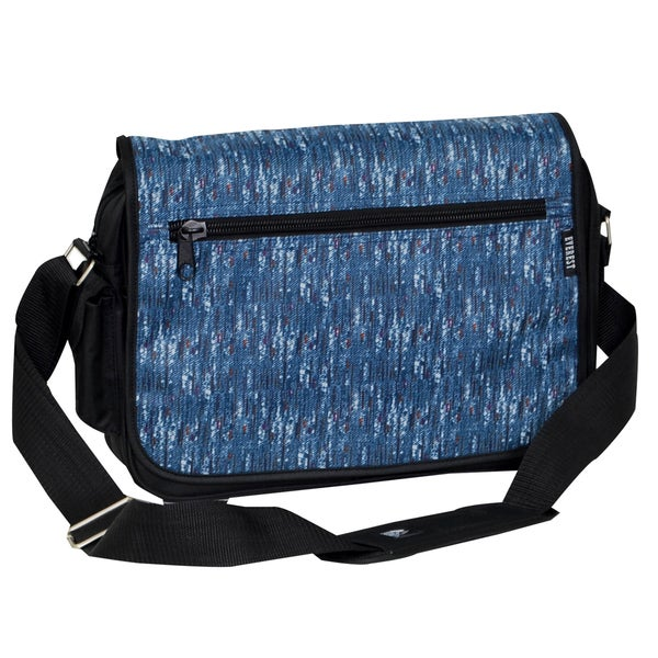 Everest Blue Tweed Messenger Bag