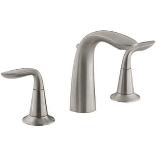 Kohler Refinia 8 inch Widespread Bathroom Sink Faucet in Brushed Nickel
