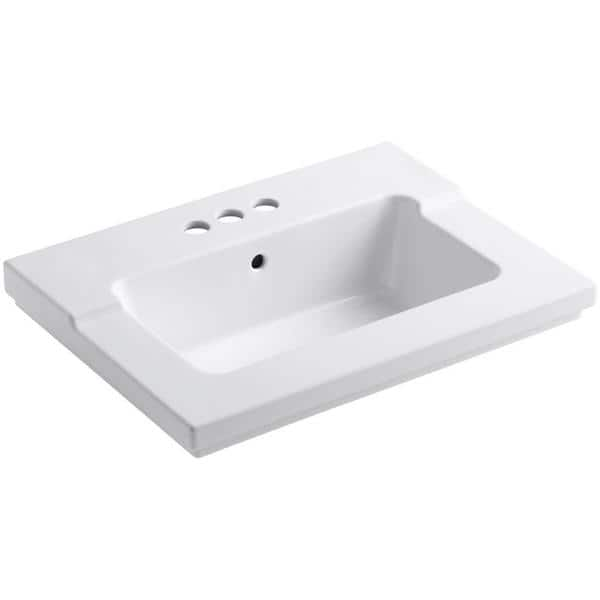 Kohler Tresham 25-7/16 inch Vitreous China Single Basin Vanity Top in ...
