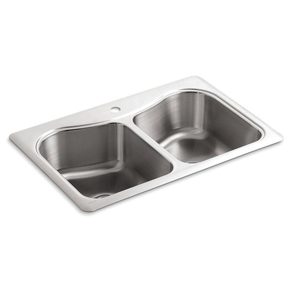 Kohler Staccato Sink : Kohler Staccato Self-rimming Stainless Steel 33x22x8.3125 1-hole ...