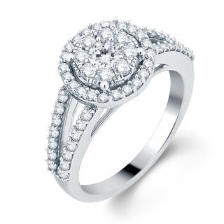 14k White Gold 1ct TDW Diamond Unity Bridal Ring (H-I, I1-I2)