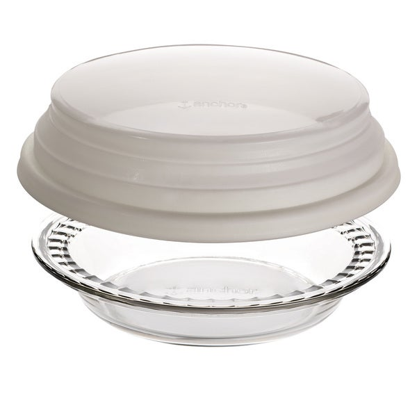 Anchor Hocking Deep 9.5-inch Pie Dish with Cover 15976250