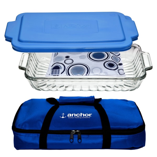 Anchor Hocking 3-piece Sculpted Bake Set 15976253