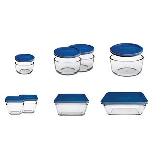 Anchor Hocking 16-piece Kitchen Storage Set Blue