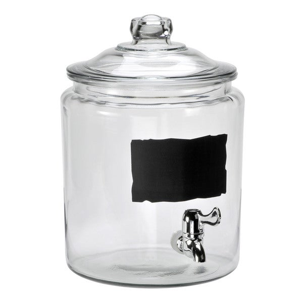 Anchor Hocking Heritage Hill 2gallon Chalk Spig Beverage Dispenser
