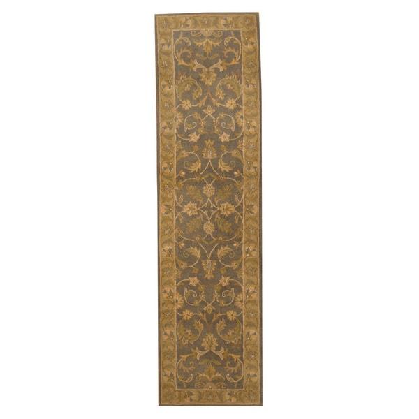 Herat Oriental Indo Hand-tufted Mahal Wool Runner (2'1 x 7'11) - 2'1 x 7'11 15976346