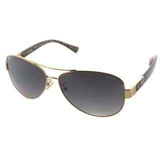 Coach Womens HC 7047 L103 Christina 9201/T3 Aviator Polarized Sunglasses