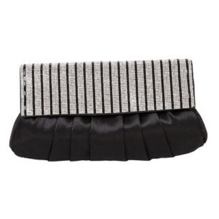 J. Furmani Stripes Pleated Clutch
