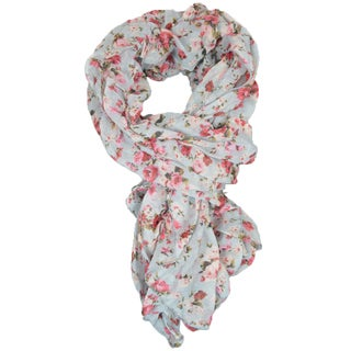 Floral Ruffled Scarf