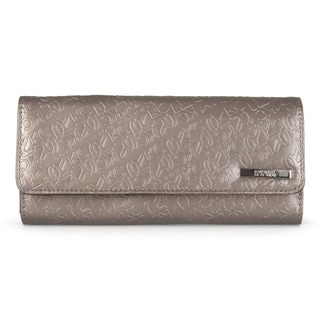 Kenneth Cole Reaction Women's Embossed Trifold Elongated Clutch Wallet