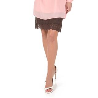 Timeless by Journee Women's Lace Bottom Half Slip Skirt Extender