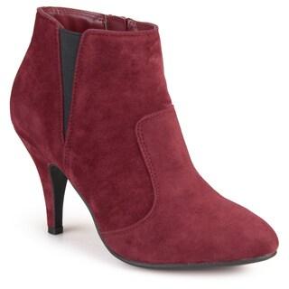 Journee Collection Women's 'Beech' Faux Suede High Heel Ankle Booties