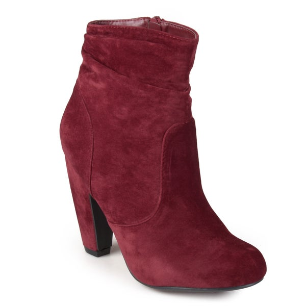 Journee Collection Women's 'Linden' Slouch High Heeled Ankle Boots