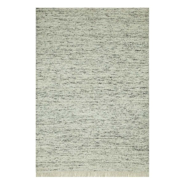 Flatweave Casual Soft Grey/Antique White Cotton (4x6) Area Rug